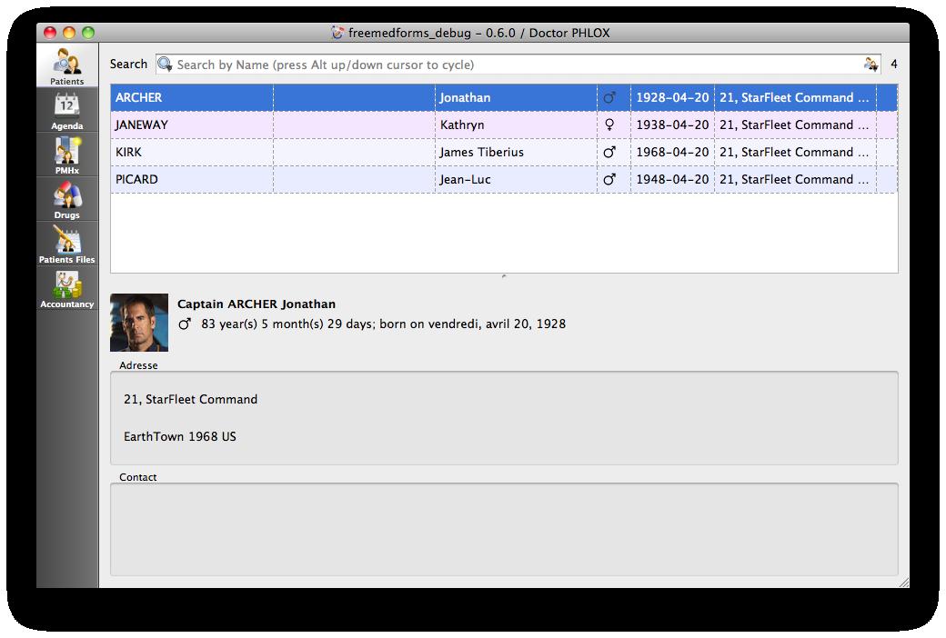 FreeMedForms for Mac OS X full screenshot